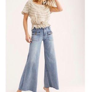 Free People Palma Wide Leg Jeans 31 NWT Indigo
